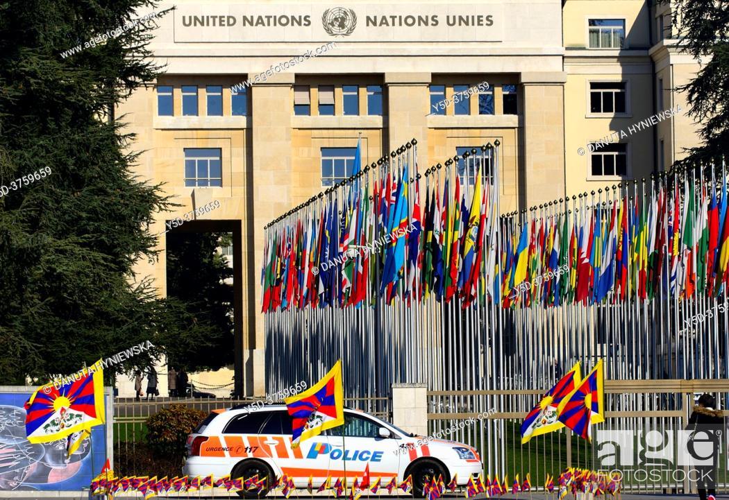 Stock Photo: Palace of Nations, Geneva, Switzerland, Europe.