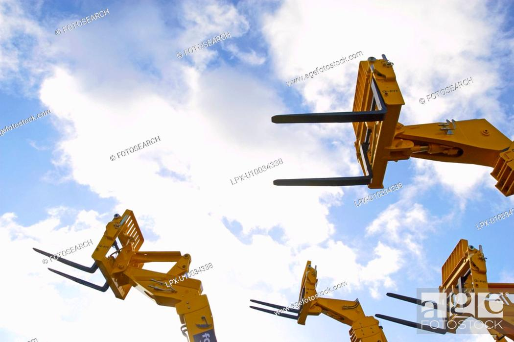 Stock Photo: Detail of hydraulic forklift.