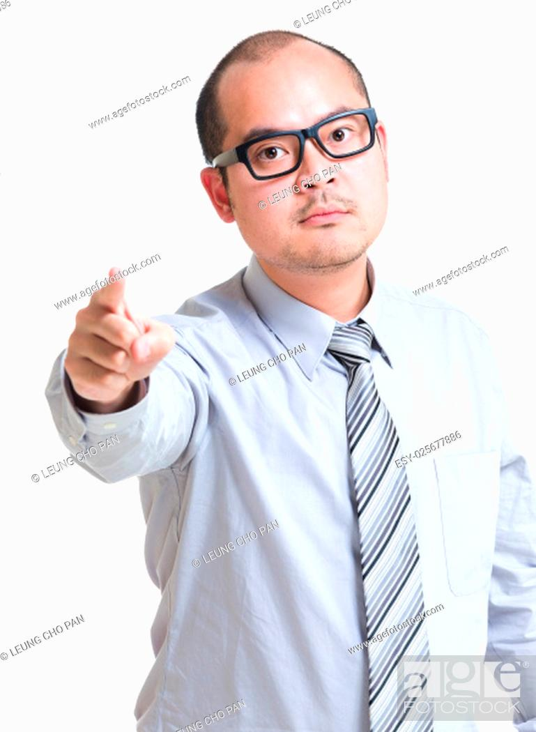 Stock Photo: Manager blame on you.