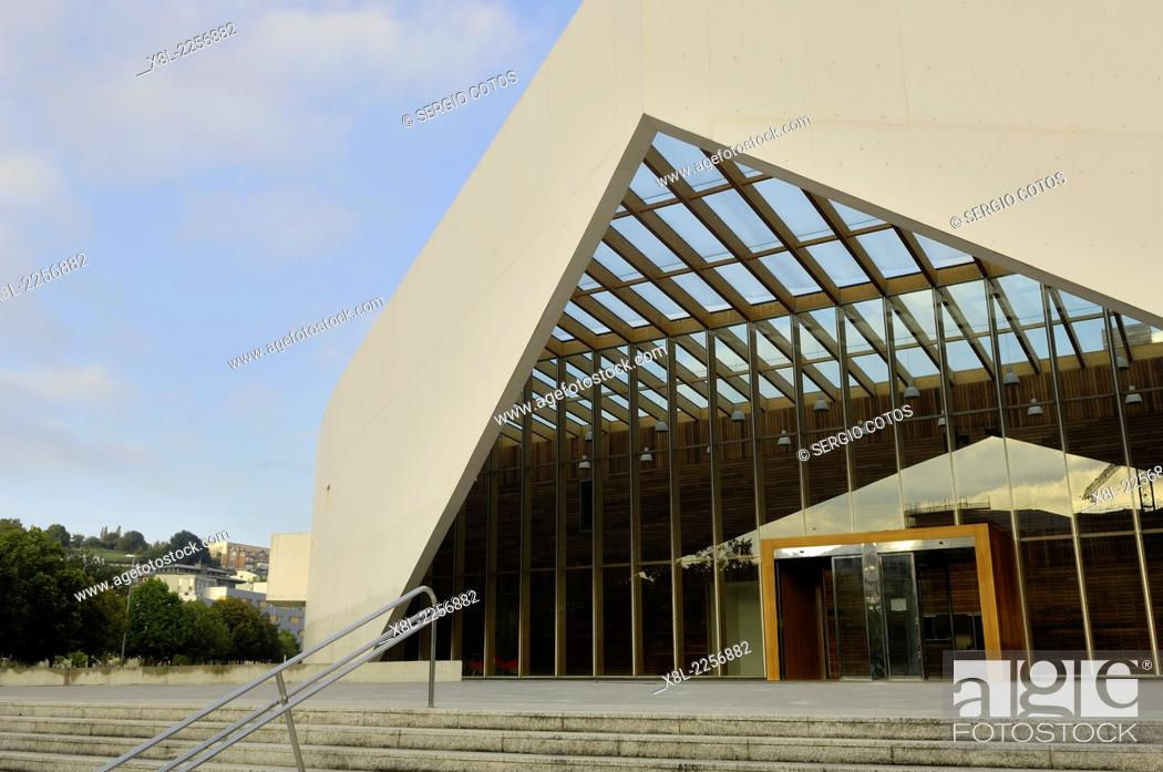 Stock Photo: UPV Building on campus of San Sebastian, Basque Country.