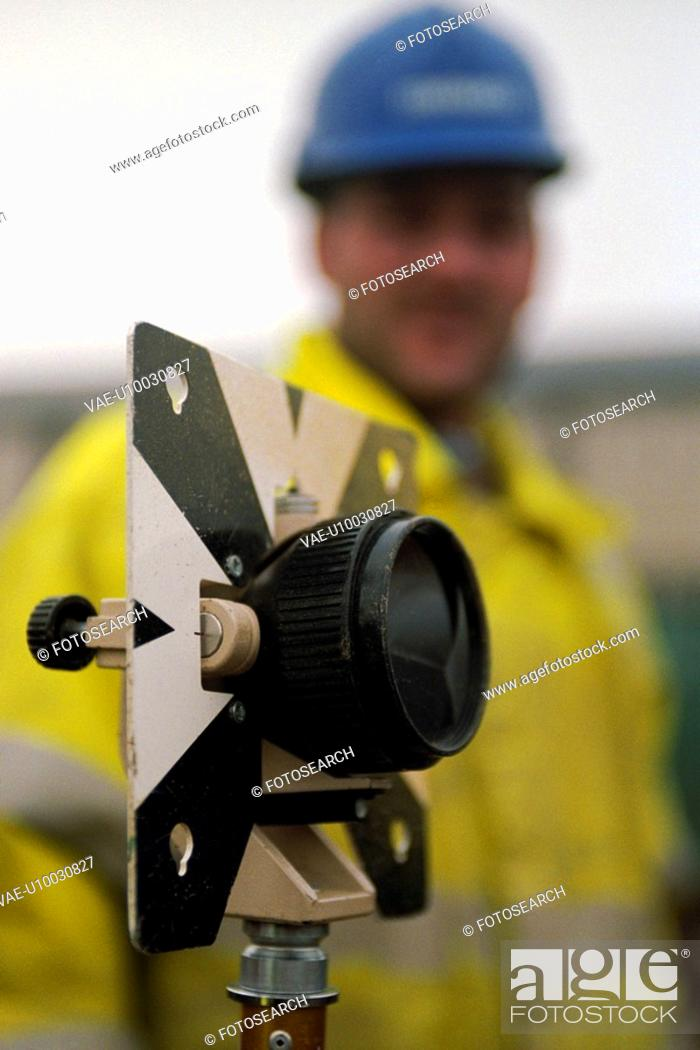 Stock Photo: Detail of surveying tool.