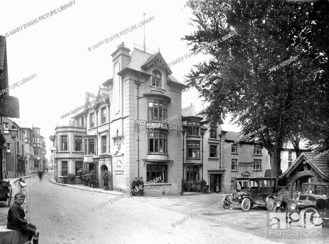 Stock Photo: Sedbergh, Main Street 1923.
