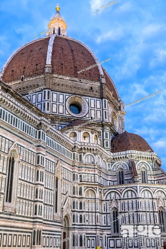 Stock Photo: Piazza del Duomo, Firenze, Italy.
