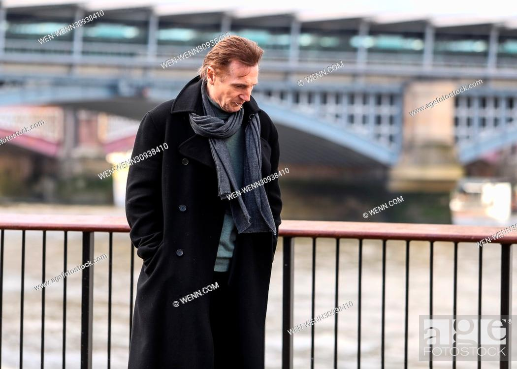 Liam Neeson, Olivia Olsen and Thomas Brodie-Sangster film a