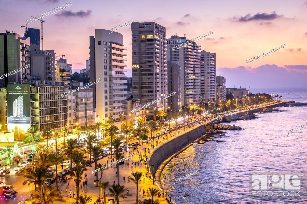 Imagen: Skyline, View of Corniche, Beirut, Lebanon.