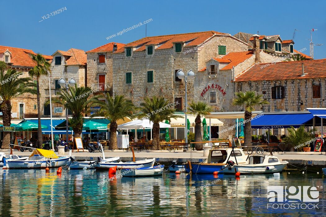 Stock Photo: Supetar harbour, Brac island, Croatia.