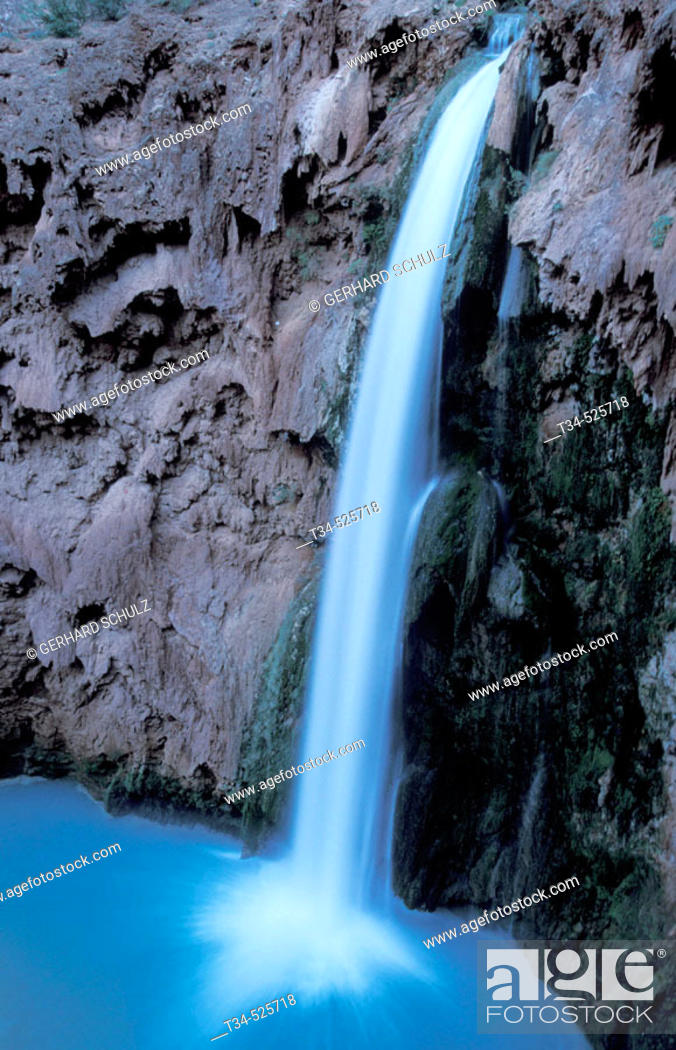 Stock Photo: Moonie Falls. Havasu. Arizona, USA.