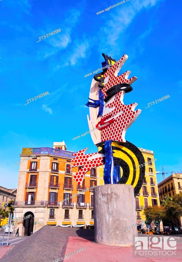 c0c54b64c4f Stock Photo - El Cap de Barcelona - a surrealist sculpture created by  American Pop artist Roy Lichtenstein for the 1992 Summer Olympics in  Barcelona