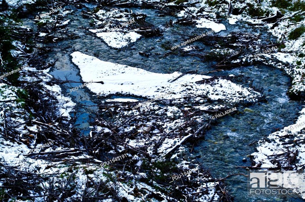 Stock Photo: Glacier El Martial, Ushuaia, Fuegian Andes, Tierra del Fuego Archipelago, Straits of Magellan, Tierra del Fuego Province, Patagonia, Argentina.