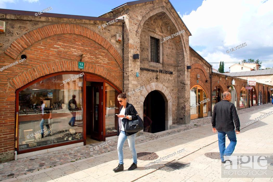 Stock Photo: brusa bezistan, old market, bascarsija, sarajevo, bosnia and herzegovina, europe.