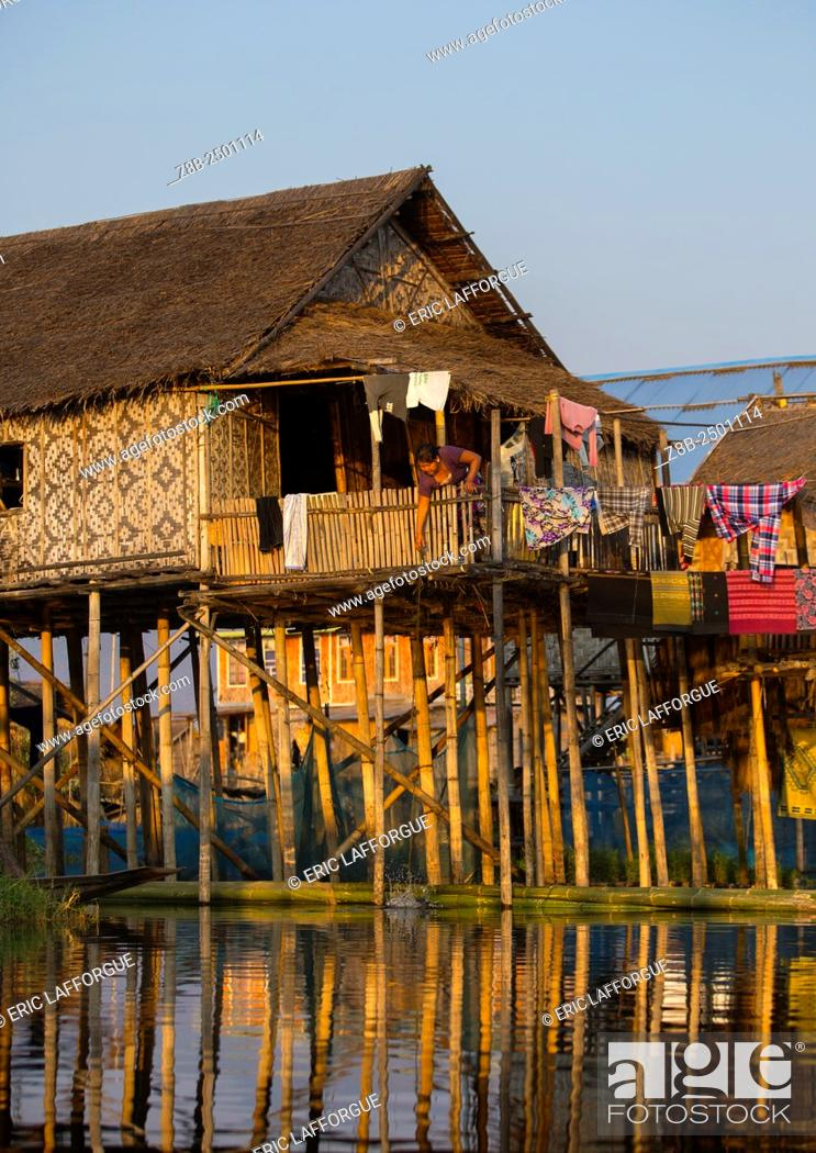 Great Stock Photo   Typical House On Stilts, Inle Lake, Myanmar