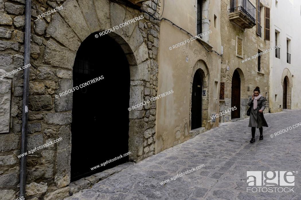 Stock Photo: Ibiza old town.