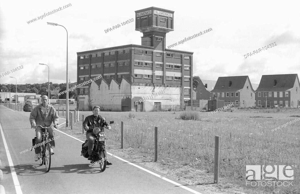 Stock Photo: Derelict Textile Mills in Roomweg , Enschede , Netherlands , Europe.