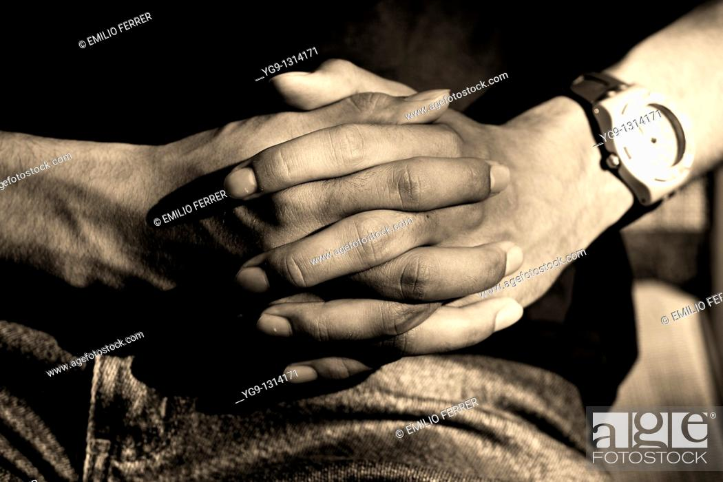Stock Photo: Hands  LLeida  Spain.