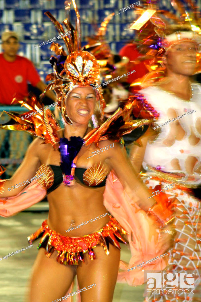 Stock Photo: Young dancer at Carnival, Rio de Janeiro.
