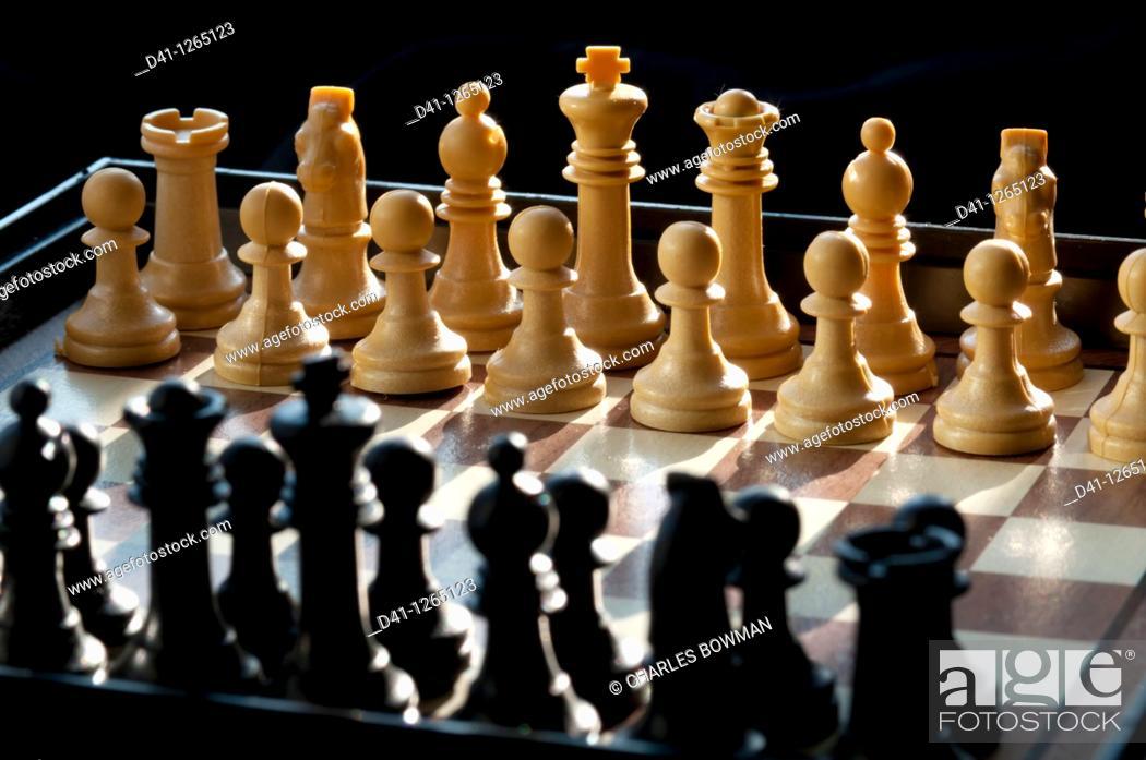 Stock Photo: chess set.