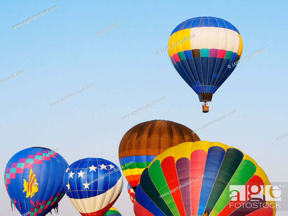 Stock Photo: Hot-Air Balloons Race.  23rd. Annual Race. Tamiami Airport. Miami. USA.
