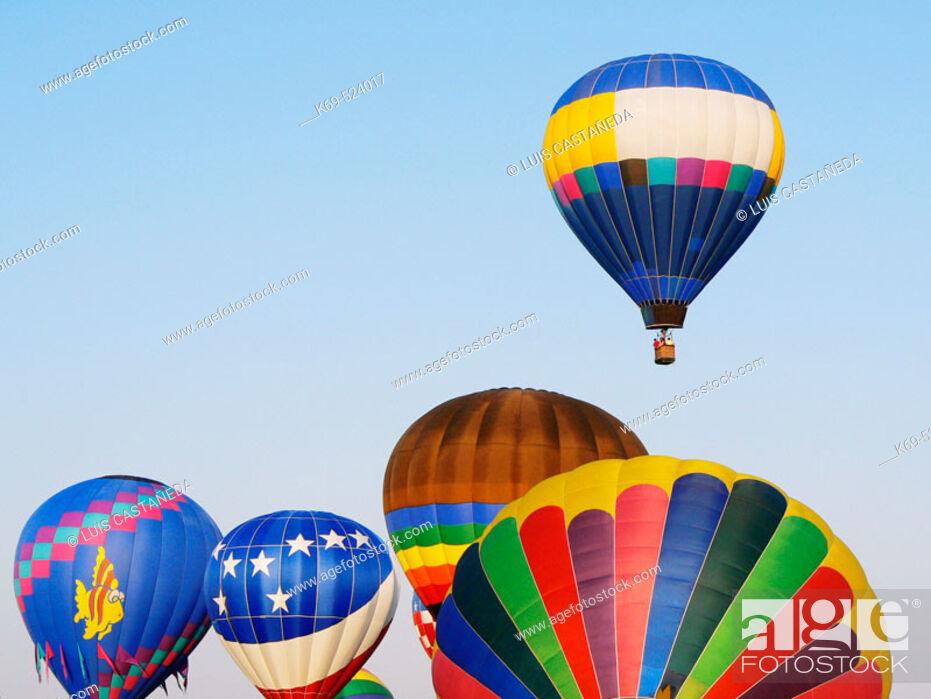 Stock Photo: Hot-Air Balloons Race.  23rd. Annual Race. Tamiami Airport. Miami. USA.