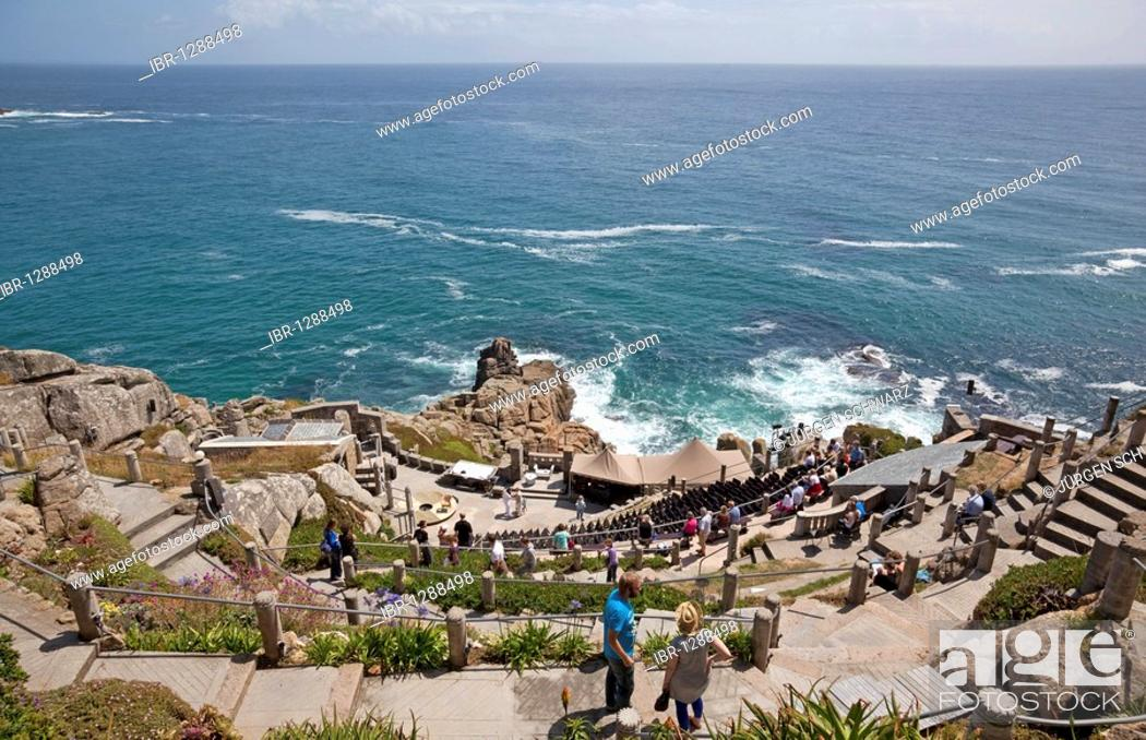 Stock Photo: The Minack Theater, open-air, Porthcurno, Cornwall, England, United Kingdom, Europe.