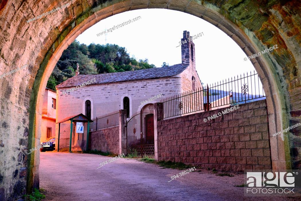 Stock Photo: Church of San Juan Bautista, Arnado, Vilamartin de Valdeorras, Orense, Spain.