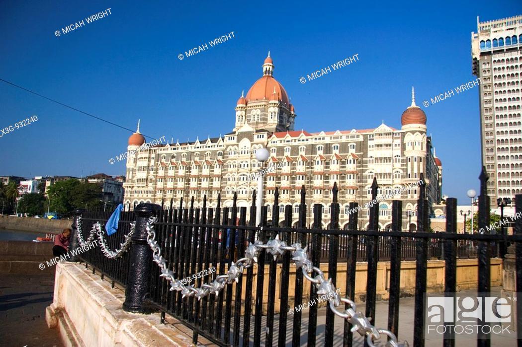 Stock Photo: Taj Mahal Hotel, Mumbai, Maharashtra, India.
