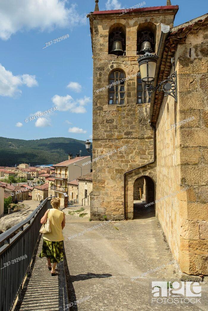 Stock Photo: Regumiel de la Sierra. Alto Arlanza. Burgos province, Castile-Leon, Spain.
