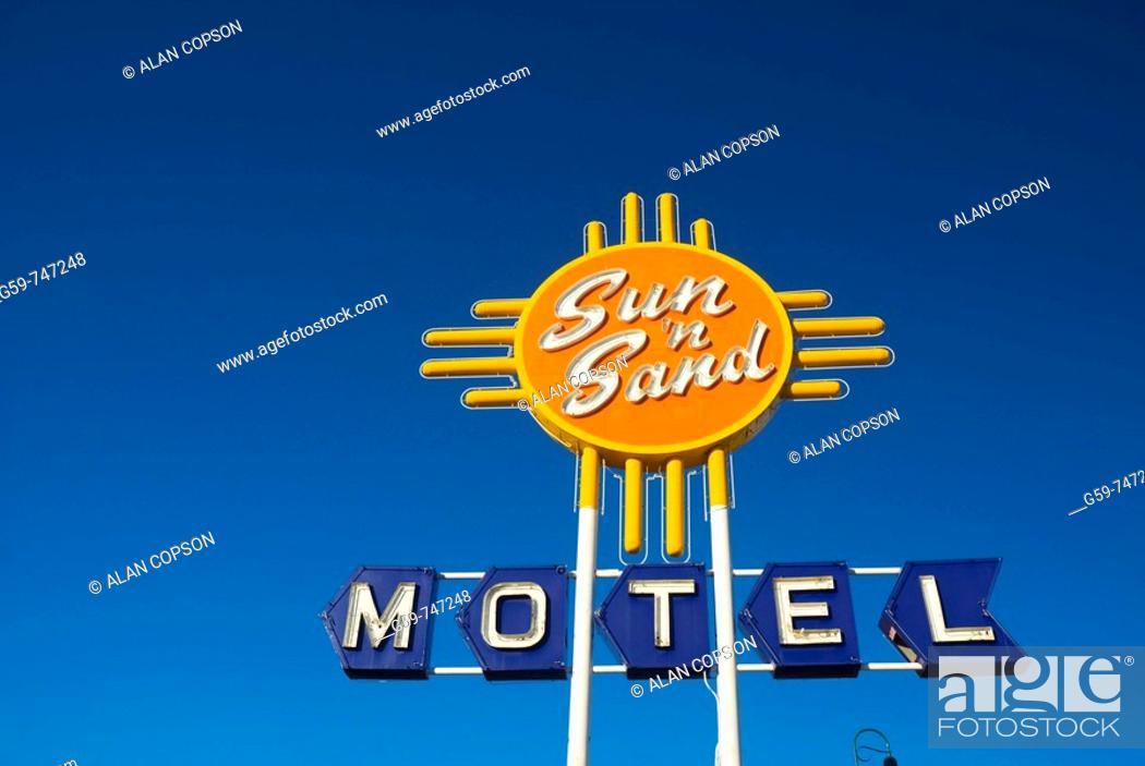 Stock Photo: USA  New Mexico  Route 66  Santa Rosa.