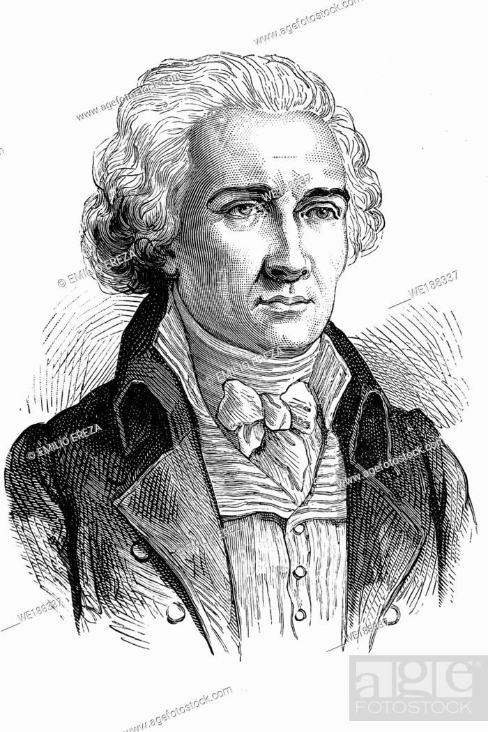 Imagen: Jean-Etienne-Marie Portalis. French jurist and politician. 1746-1807. Antique illustration. 1890.