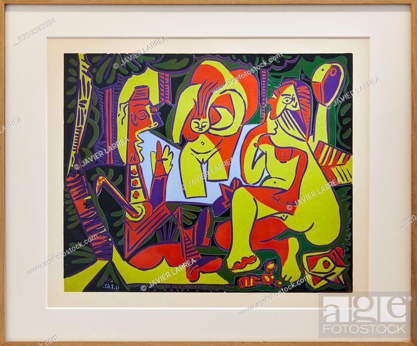 """Stock Photo: """"Le Déjeuner sur l'herbe d'après Manet"""", 1962, Pablo Picasso, Picasso Museum, Paris, France, Europe."""
