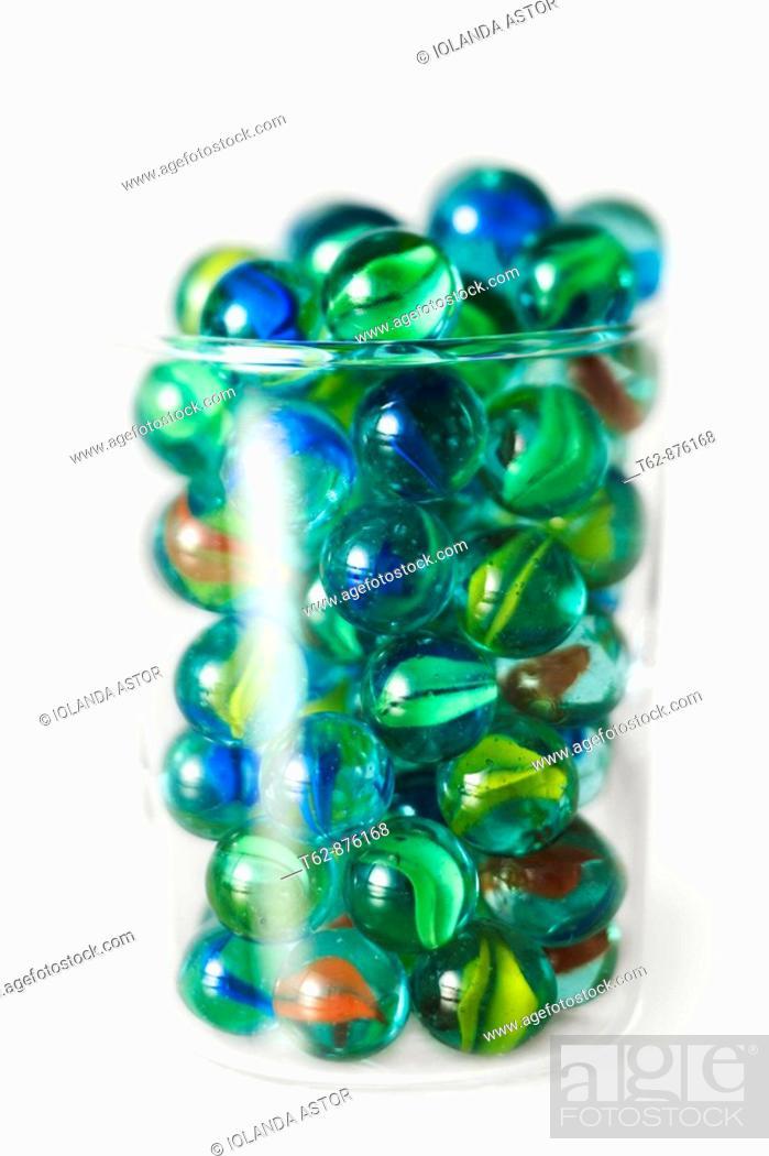 Stock Photo: Set of balls of transparent colors.