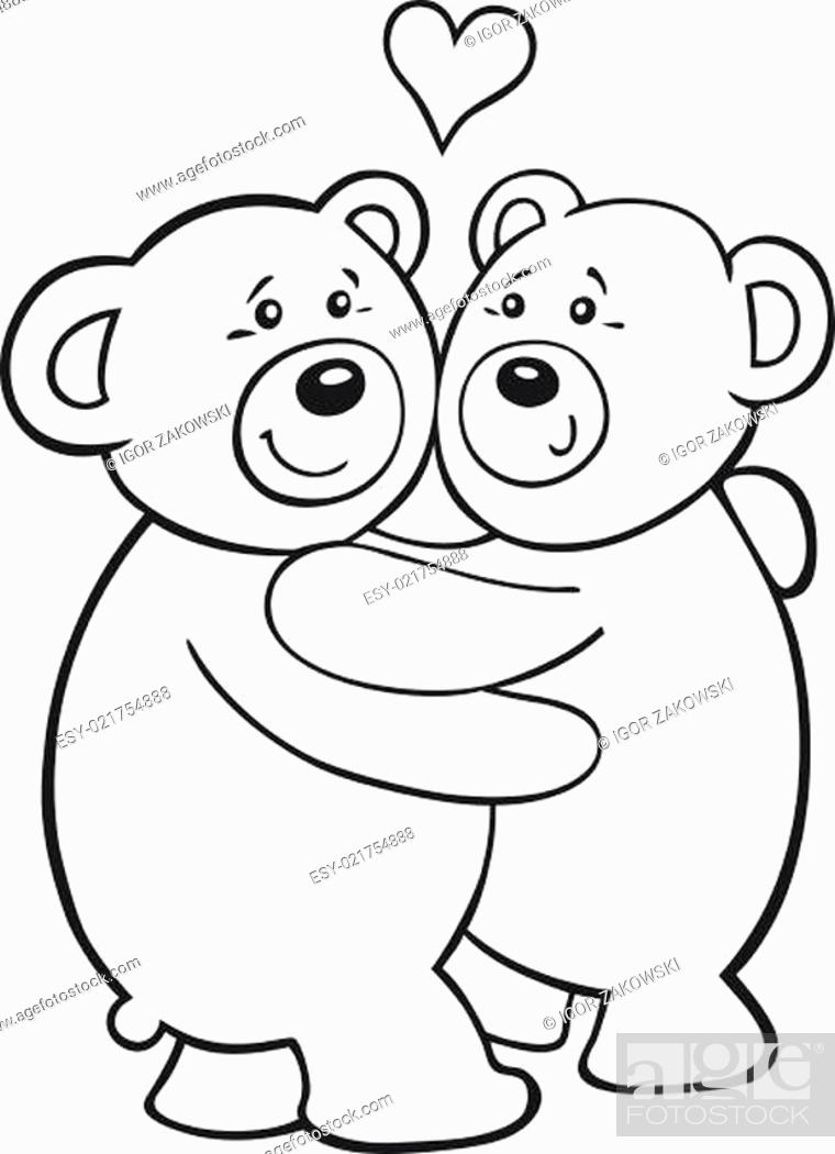 - Teddy Bears In Love For Coloring Book, Stock Photo, Picture And Low Budget  Royalty Free Image. Pic. ESY-021754888 Agefotostock