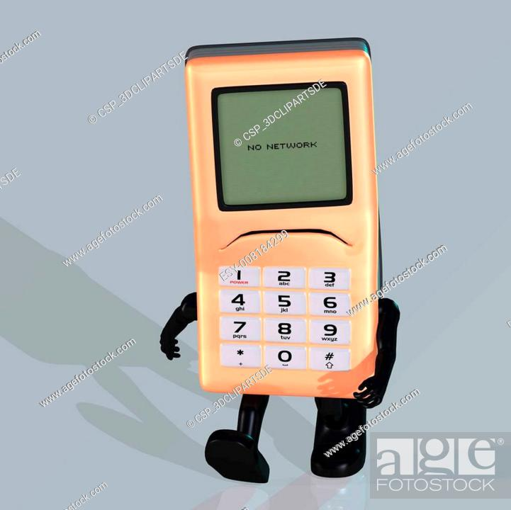Cartoon Cell Phone With Cute And Funny Emotional Face Stock Photo Picture And Low Budget Royalty Free Image Pic Esy 008184299 Agefotostock