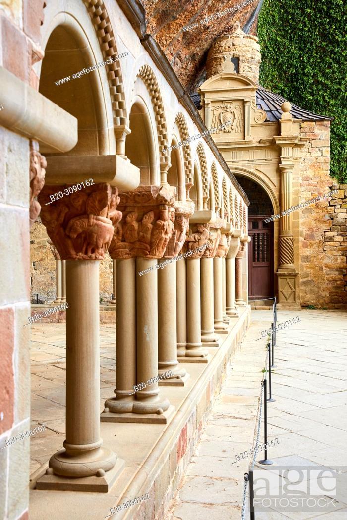 Stock Photo: Monastery of San Juan de la Peña, Huesca province, Aragón, Spain, Europe.