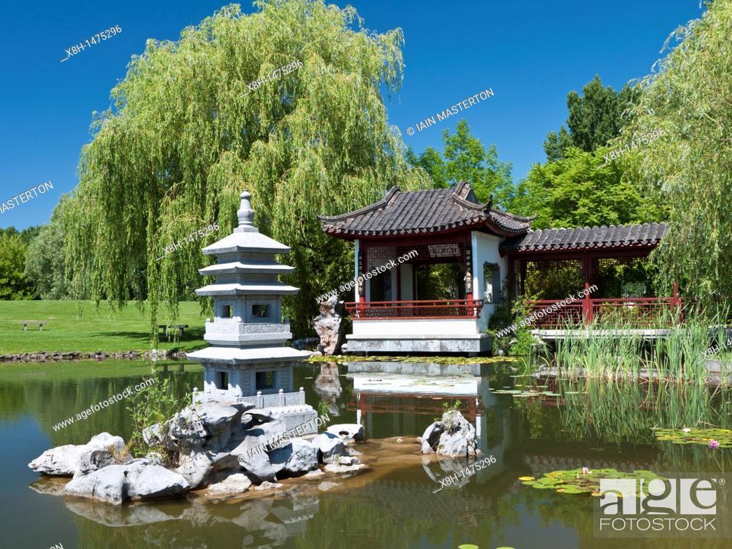 The Tea Pavilion At The Chinese Garden At The Garten Der Welt In