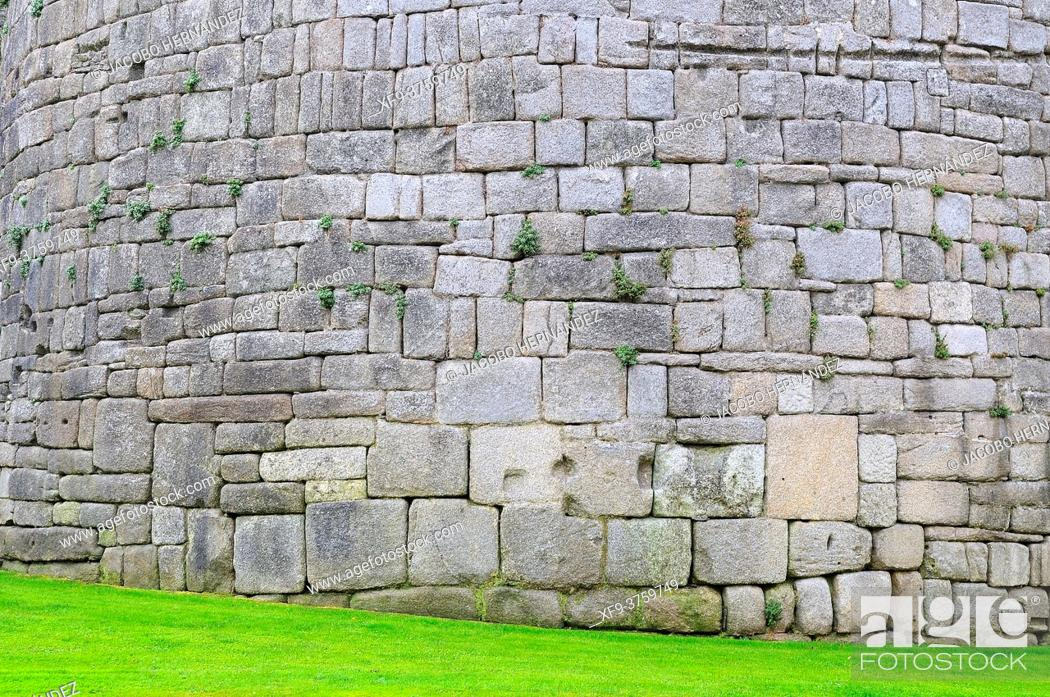 Stock Photo: Detail of roman wall of Lugo. Galicia. Spain.