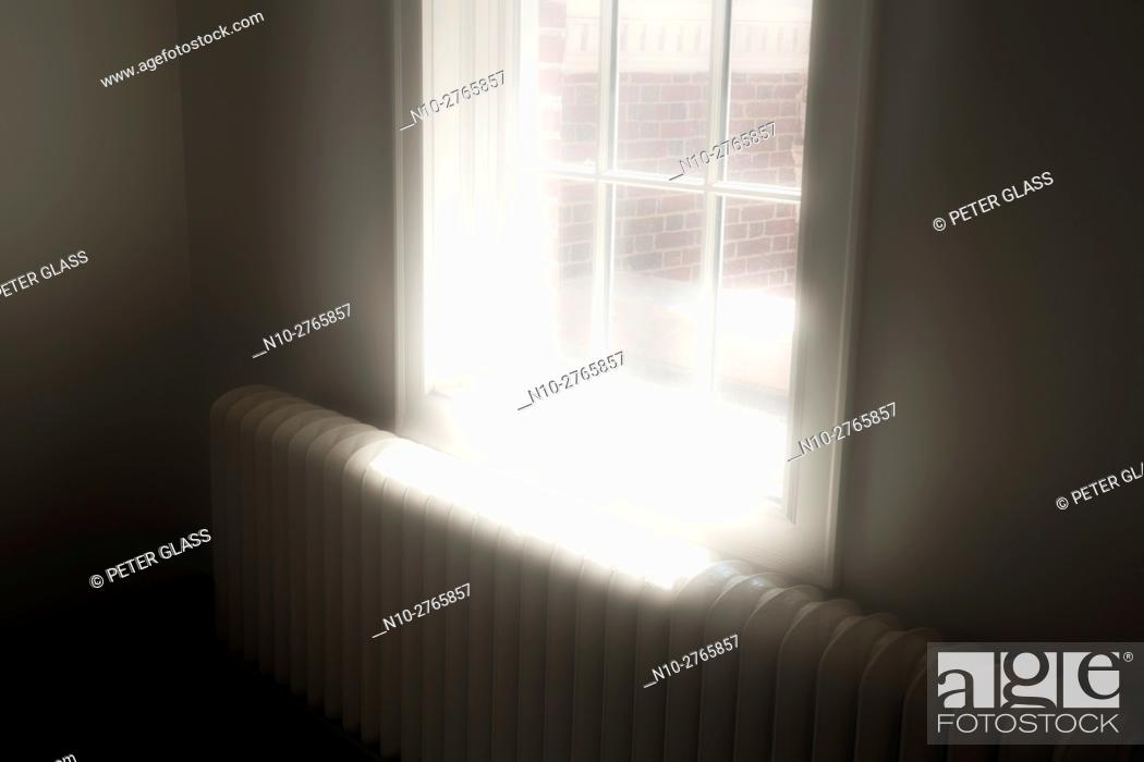 Stock Photo: Sunlight entering through window.