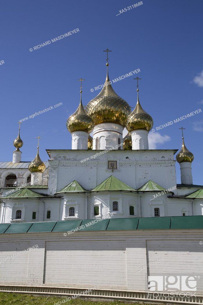 Stock Photo: Cathedral, Resurrection Monastery, Uglich, Golden Ring, Yaroslavl Oblast, Russia.