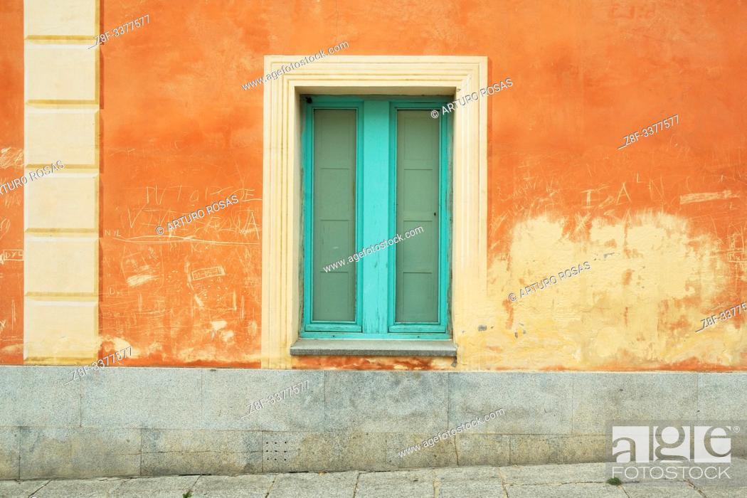 Stock Photo: Window. Real Sitio de San Ildefonso, Segovia.