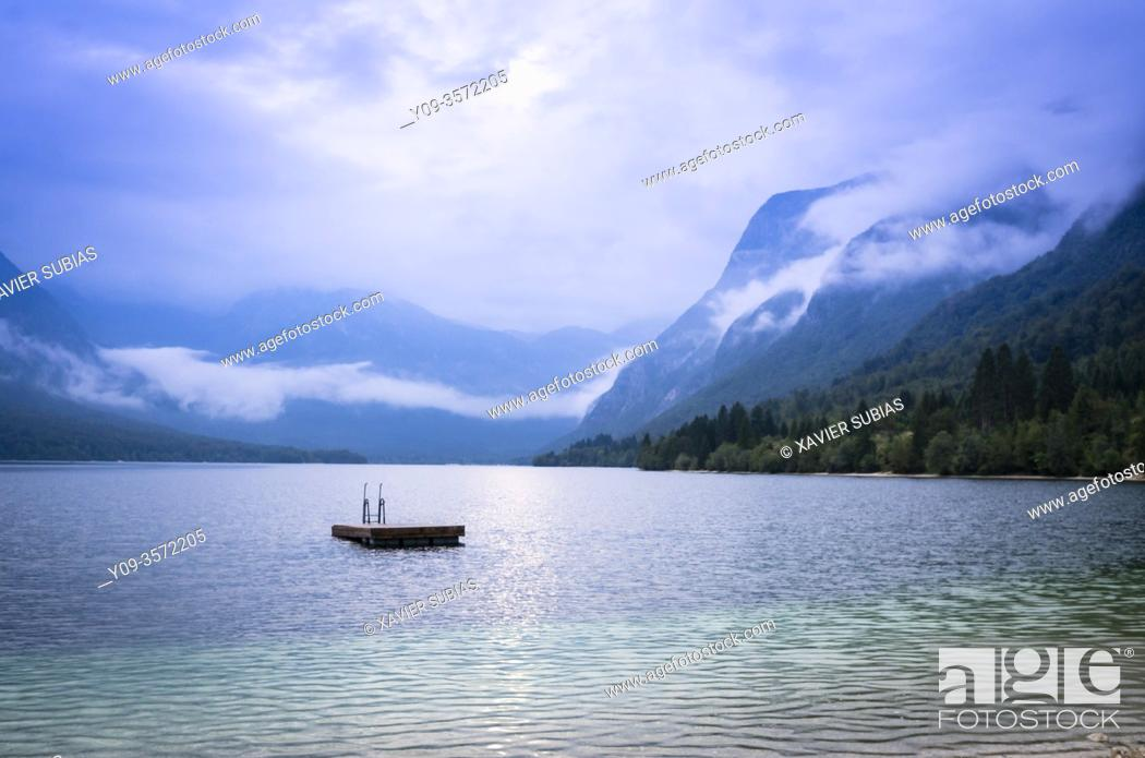 Stock Photo: Lake Bohinj, Municipality of Bohinj, Triglav National Park, Slovenia.
