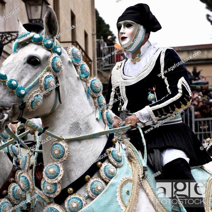Stock Photo: Carnival in Sardinia, Italy.