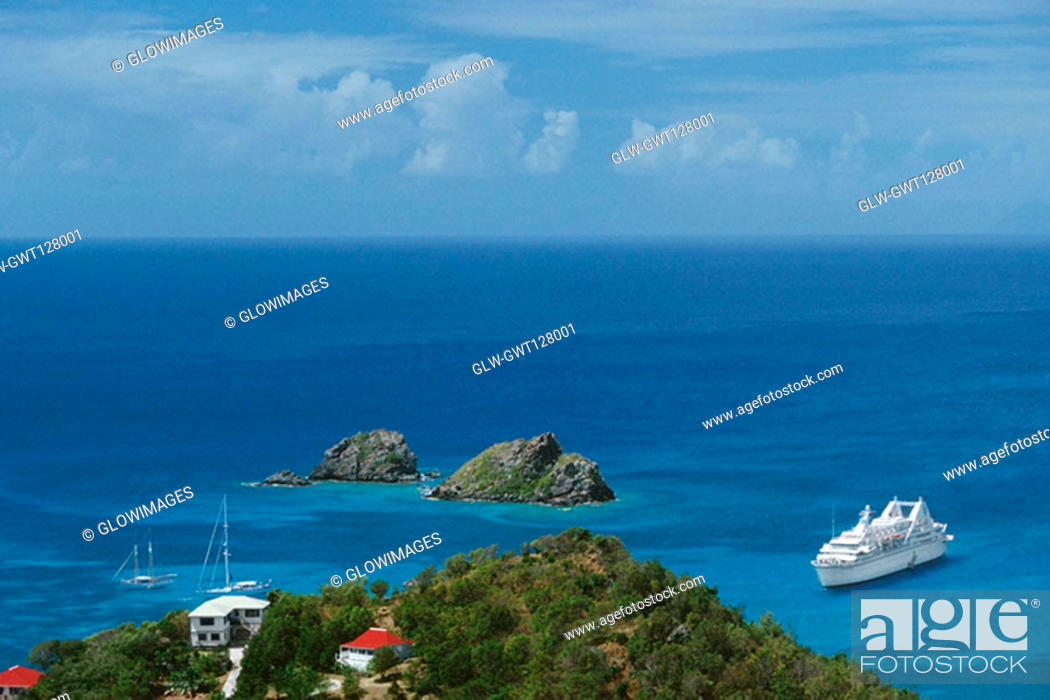 Stock Photo: Spectacular seascape, St. Martin.