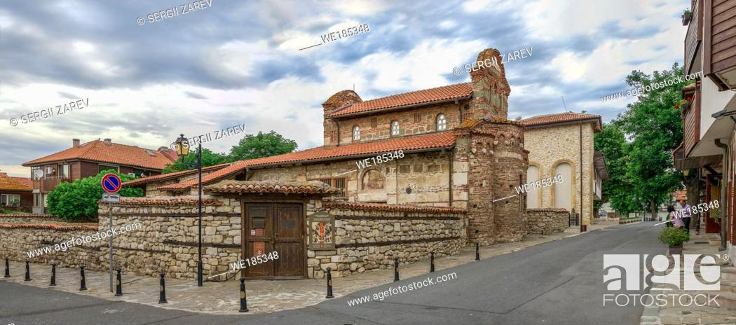 Stock Photo: Church of St Stephen in the old town of Nessebar, Bulgaria, on a cloudy summer morning.