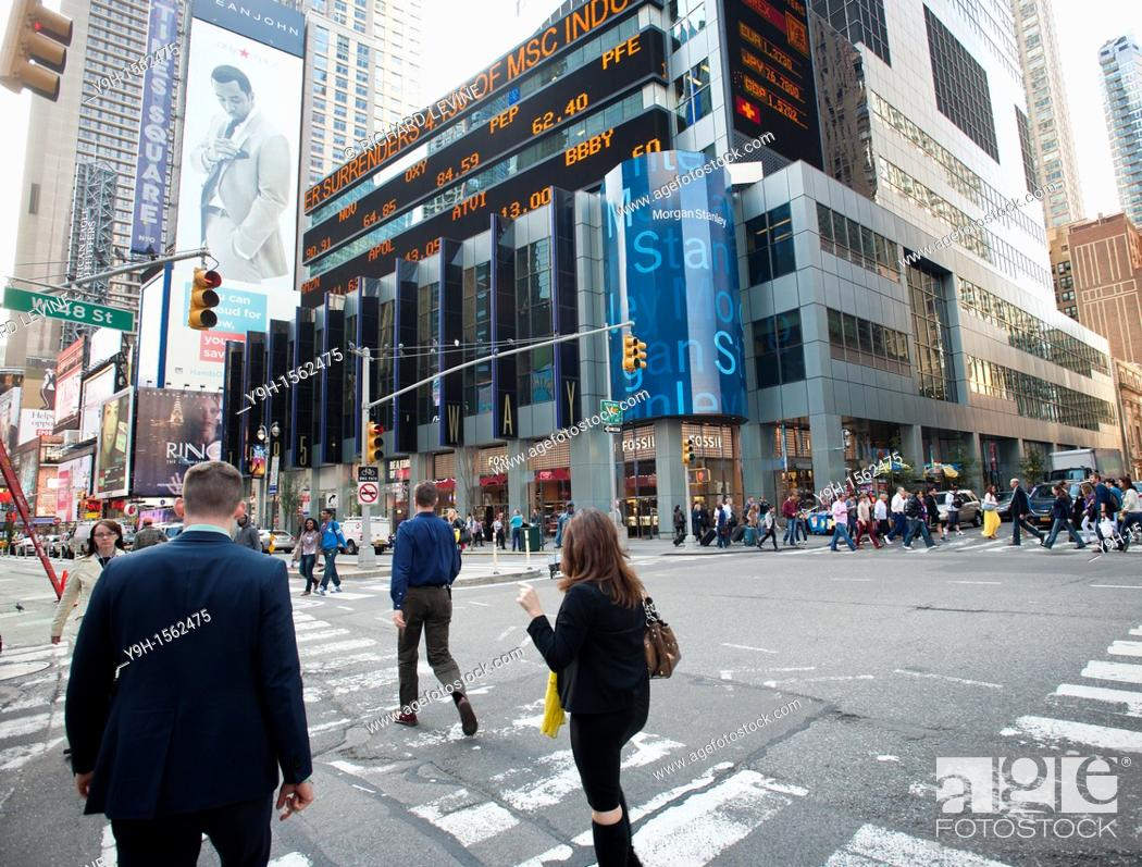 Morgan Stanley headquarters in Times Square in New York