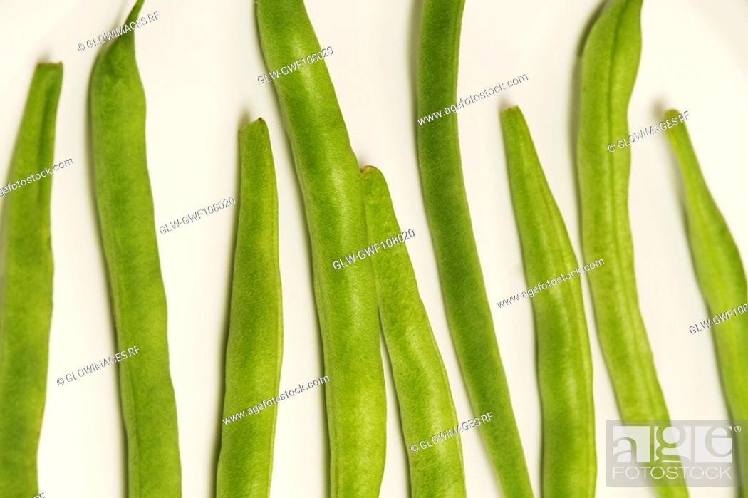 Stock Photo: Close-up of runner beans.