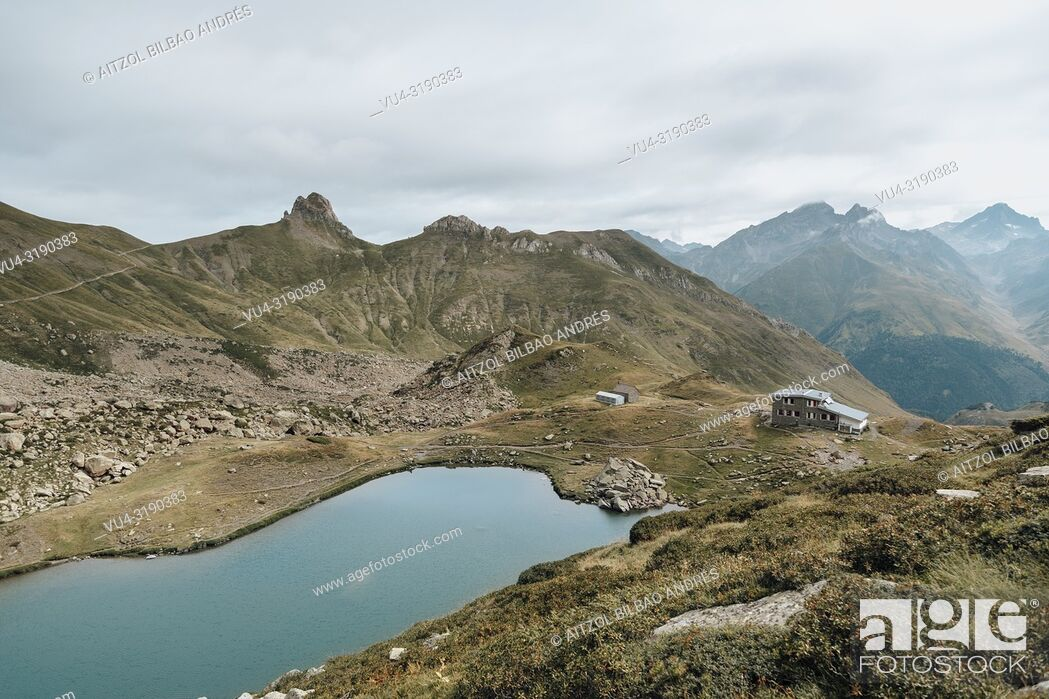 Stock Photo: Pombie, an amazing refugee between spain and france, it has a little lake where you can swim after a nice hike.