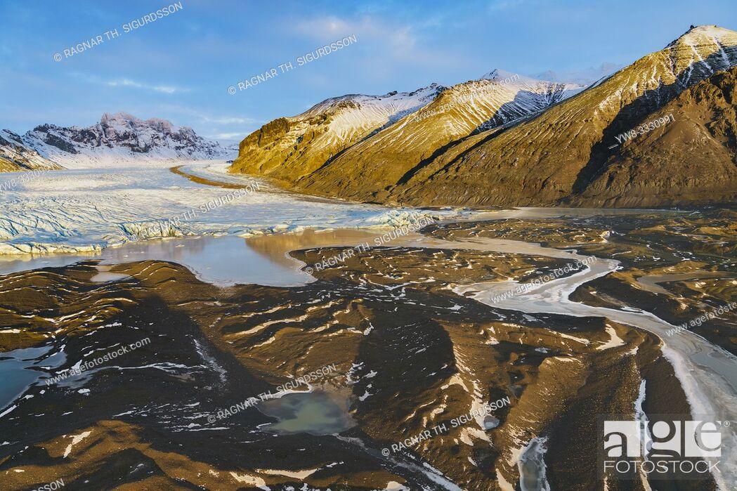 Stock Photo: Skaftafellsjokull Glacier, Vatnajokull National Park, Iceland.