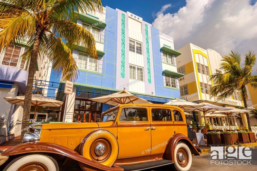 Stock Photo: casablanca hotel, south beach; miami; florida; usa; america;.