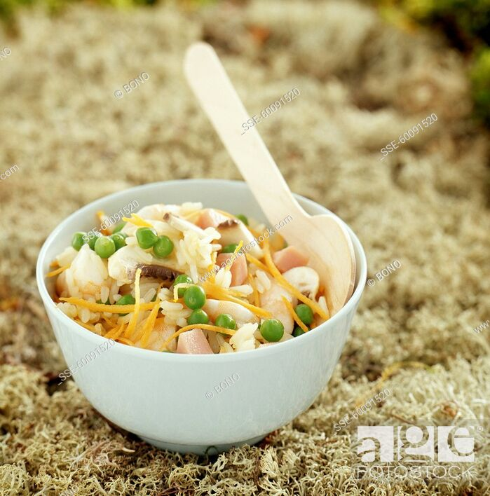 Stock Photo: Cantonese-style rice (topic : in the open air).