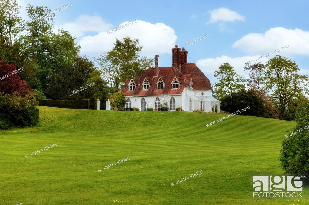 Stock Photo: Houghton Lodge, Stockbridge, Hampshire, England, United Kingdom.