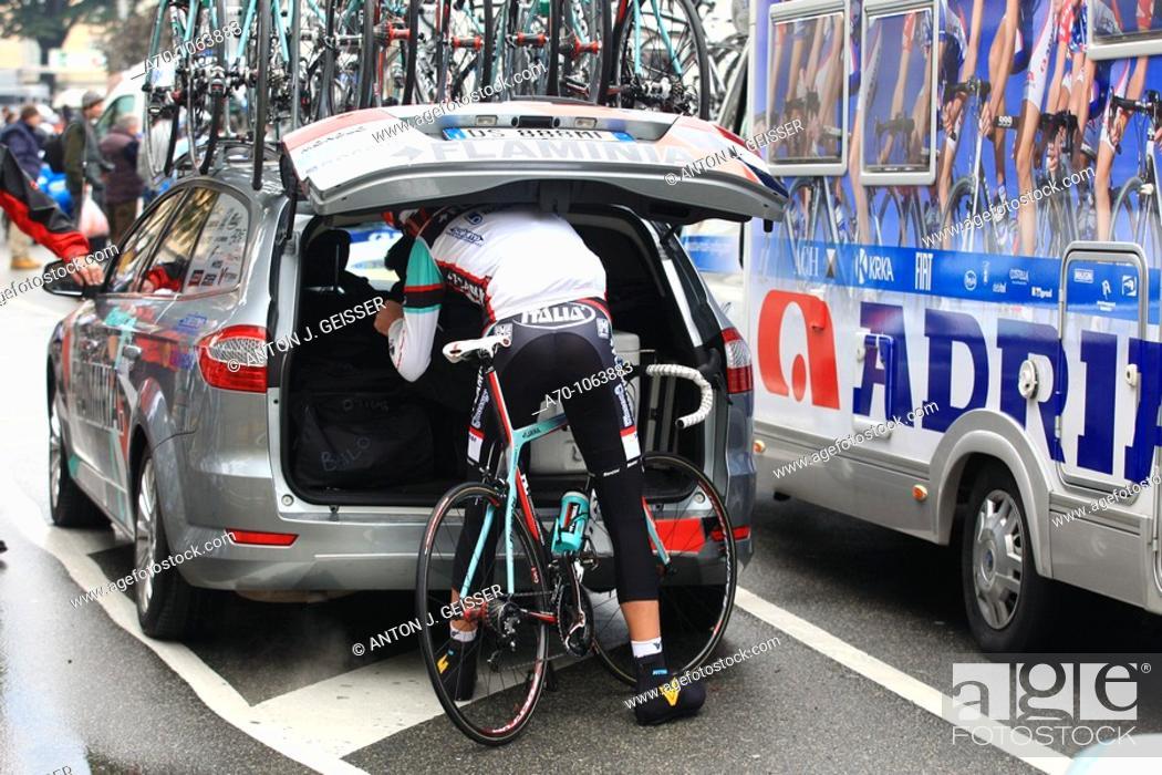 Stock Photo: Cycling team flaminia , lugano switzerland.